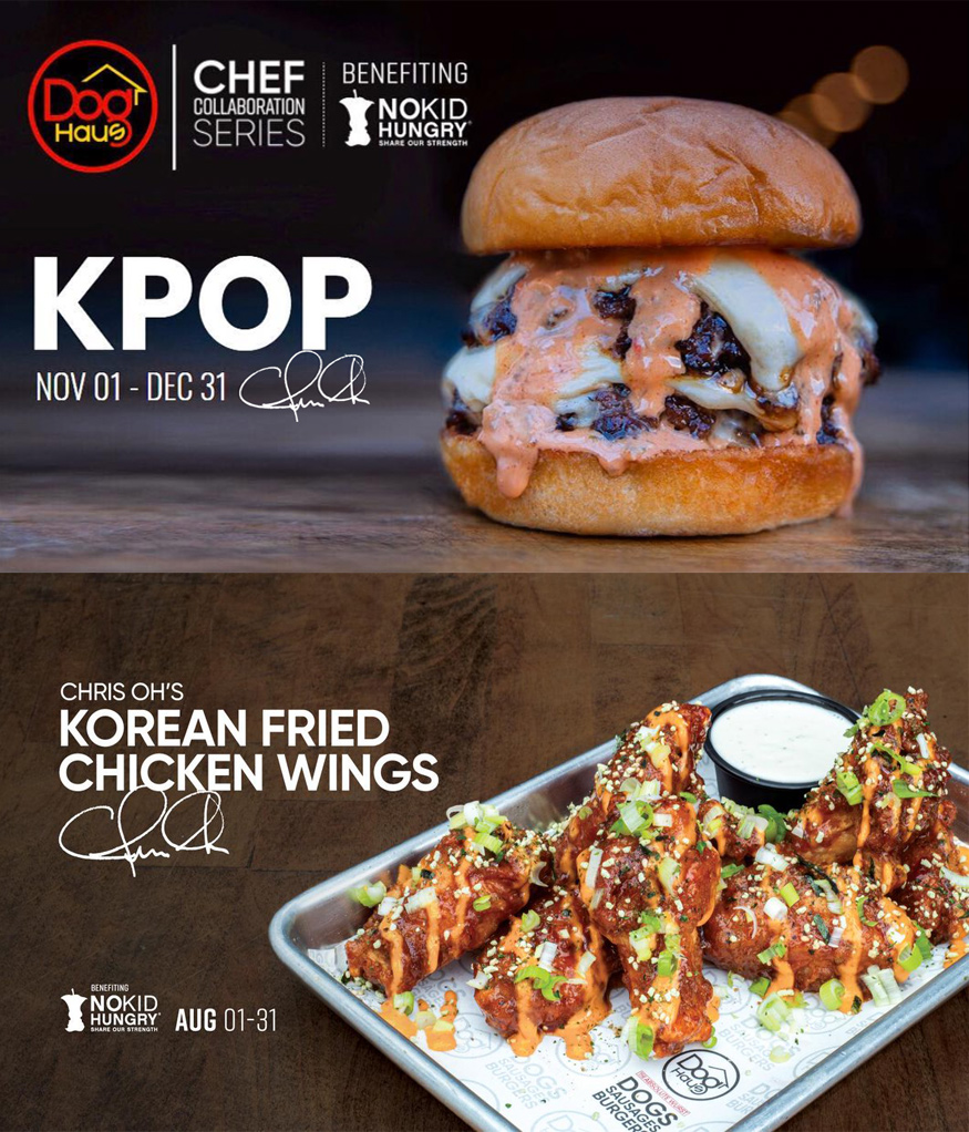 The KPOP Burger feat. KPOP Sauce in partnership with Dog Haus